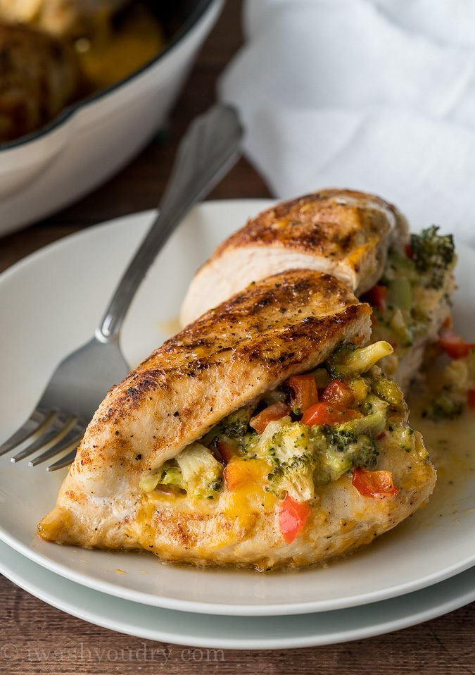 Brocoli stuffed chicken breast recipe