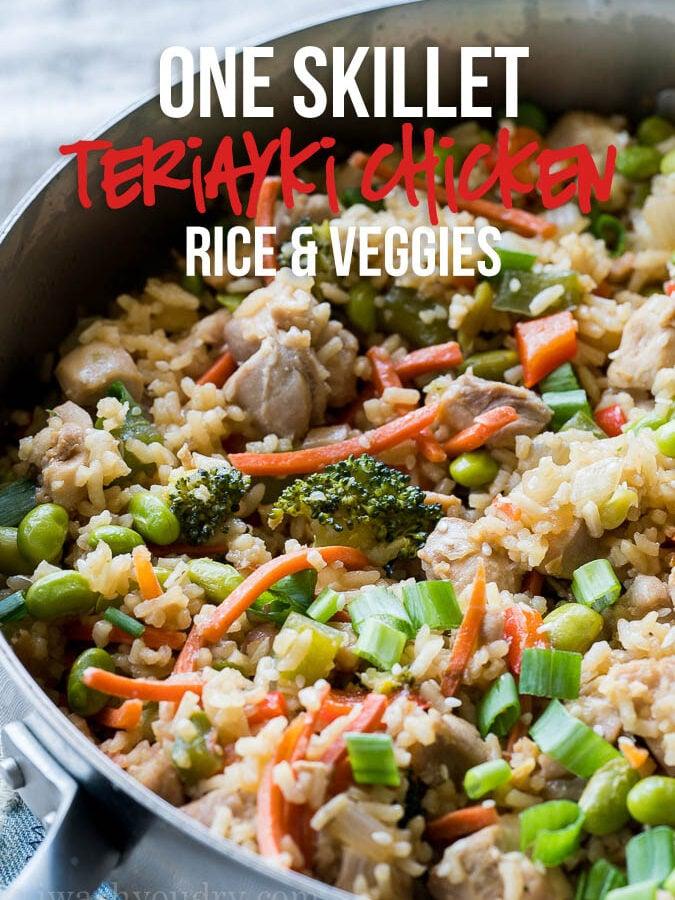 Chicken Teriyaki Rice Vegetable Skillet