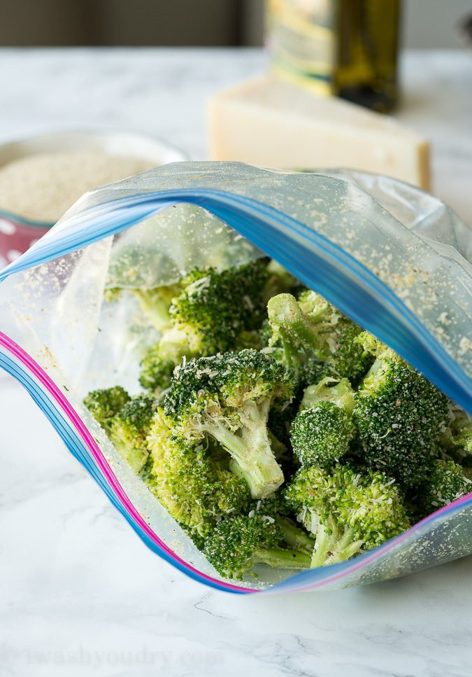 This Parmesan Roasted Brocolli is my new favorite way to eat broccoli! It's so simple and seriously so addictive!