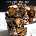 Butterfinger Chocolate Rice Krispie Treat Bars
