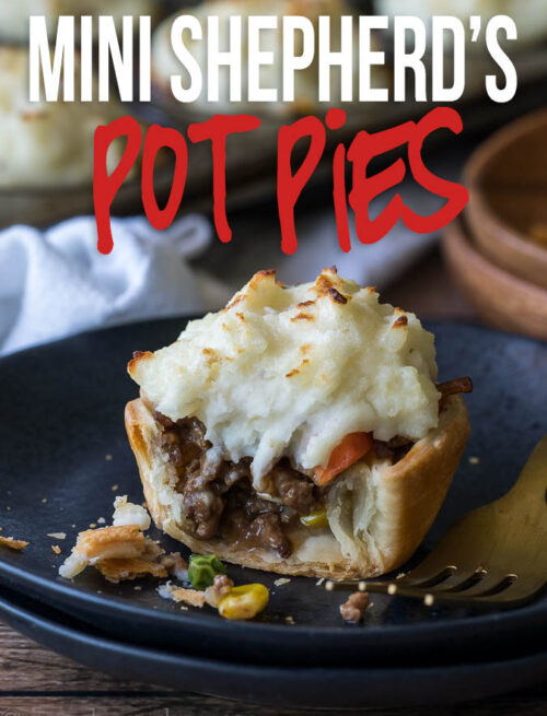 These super easy Mini Shepherd's Pot Pies Recipe is so easy that even your kids could make them!