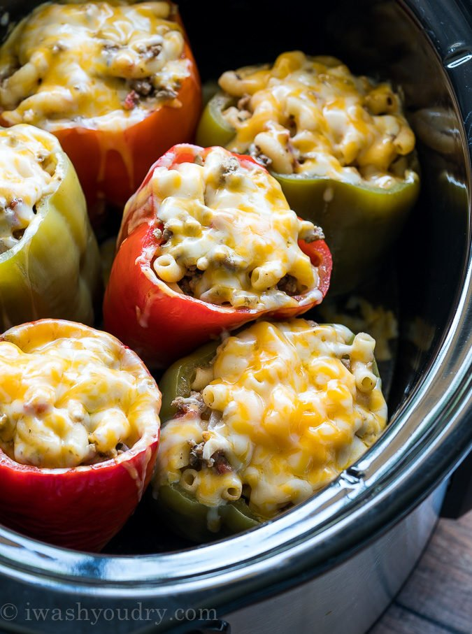 These easy Crock Pot Stuffed Peppers are filled with ground beef and such an easy recipe to follow!