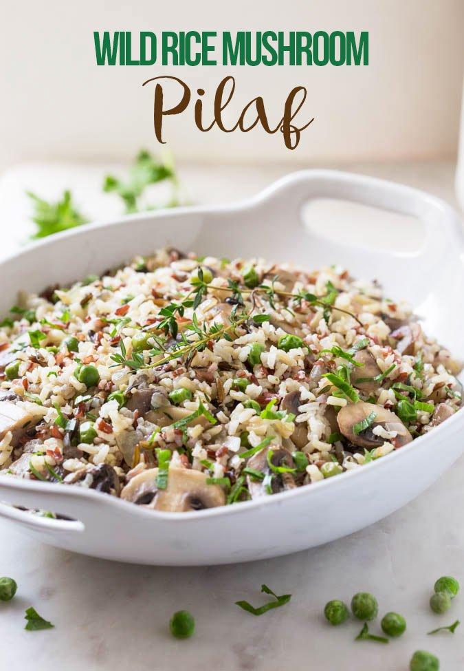 Super Easy Wild Rice Mushroom Pilaf
