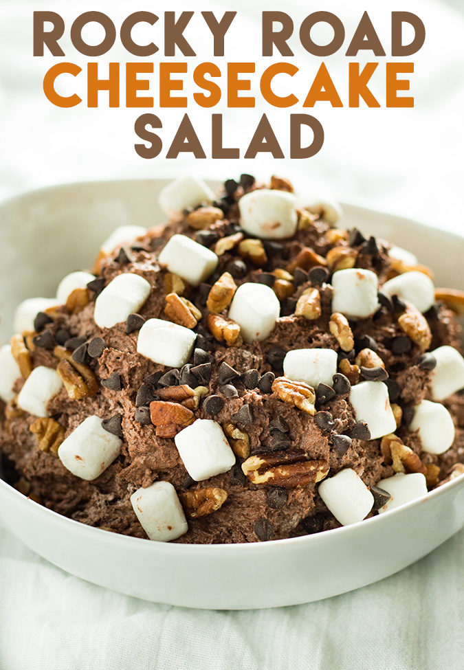 rocky road cheesecake salad