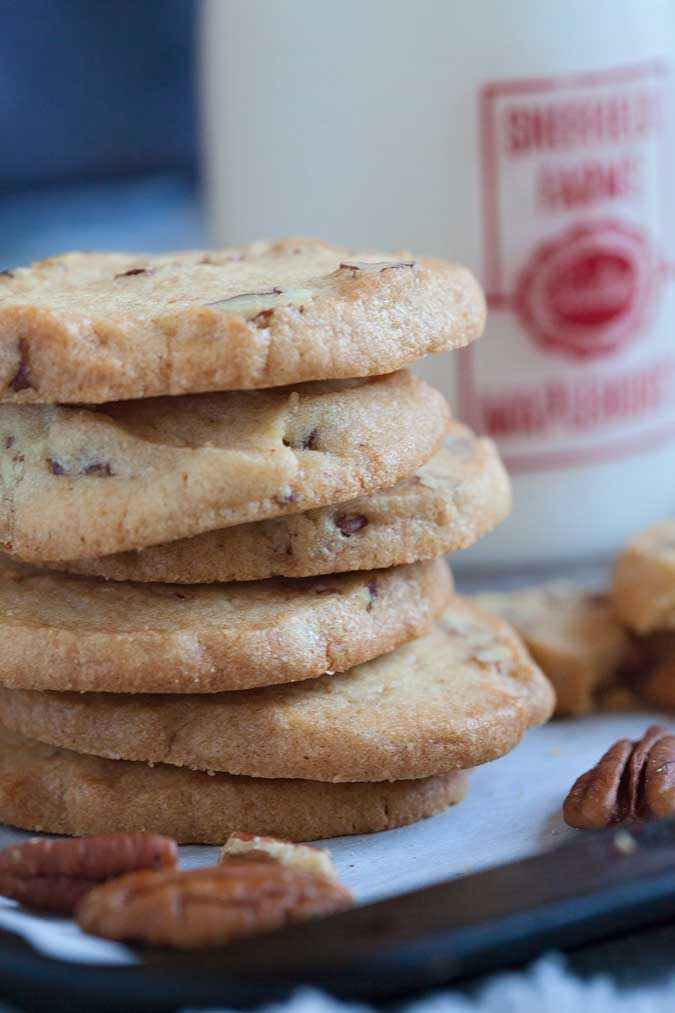 Vanilla Pecan Icebox Cookies I Wash You Dry