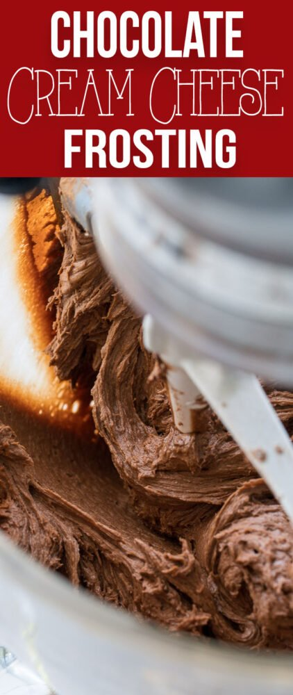 This creamy and fluffy Chocolate Cream Cheese Frosting is so simple and easy to make, you'll never used canned frosting again!