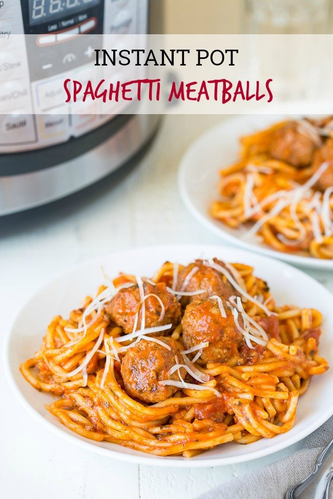 This Instant Pot Spaghetti and Meatballs Recipe is everyone's favorite comfort food with a quick and easy makeover!