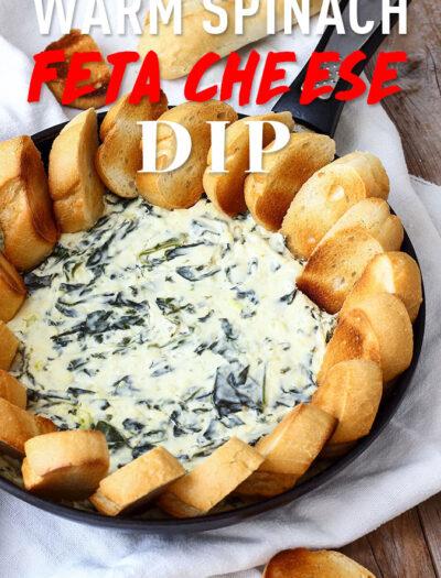 Warm Spinach Feta Cheese Dip