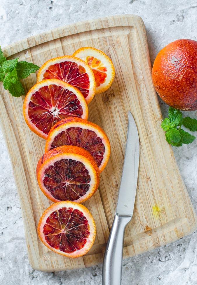Non Alcoholic Blood Orange Mojito.