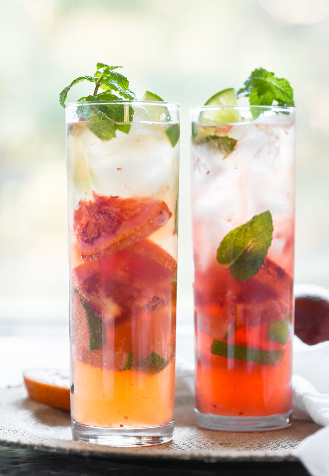 This refreshing blood orange mojito is a delicious drink to enjoy winter blood oranges.