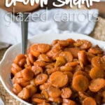 These Brown Sugar Glazed Carrots are made in just 5 minutes with just 5 simple ingredients! Perfect for a quick Thanksgiving side dish!