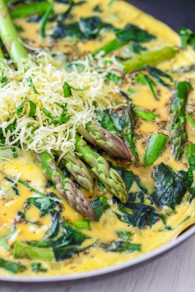 Spinach Asparagus Frittata - I Wash You Dry