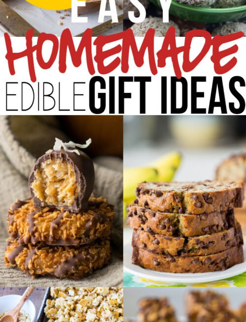 I love all of these super easy Edible Homemade Gift Ideas for the Holidays! So many delicious treats to choose from!