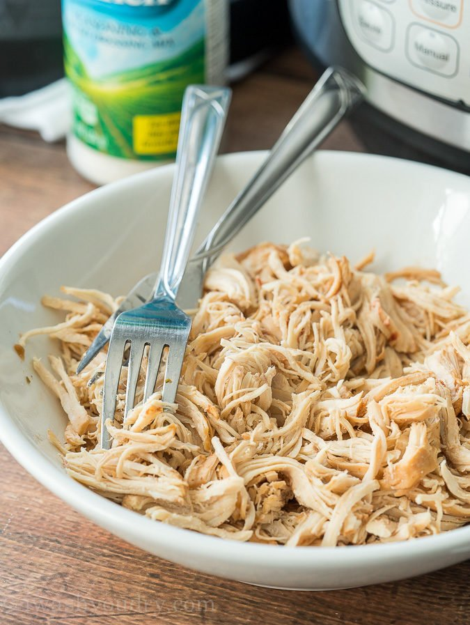 Shredded Chicken in the Instant Pot or Pressure Cooker