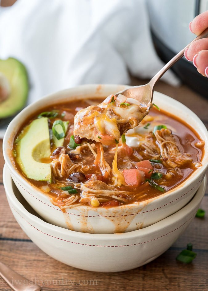 Instant Pot Chicken Taco Soup I Wash You Dry
