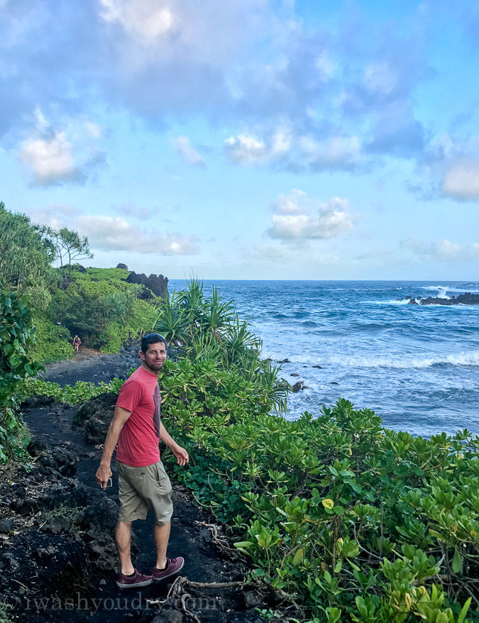 So many trails to explore at Waianapanapa State Park!