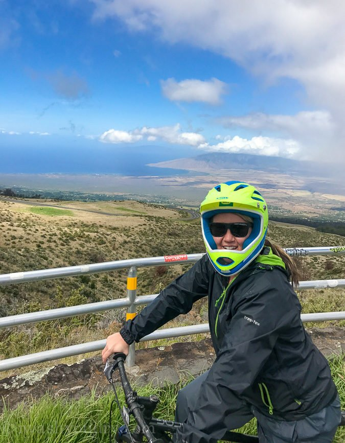 The views from the bike ride on Haleakala were amazing!