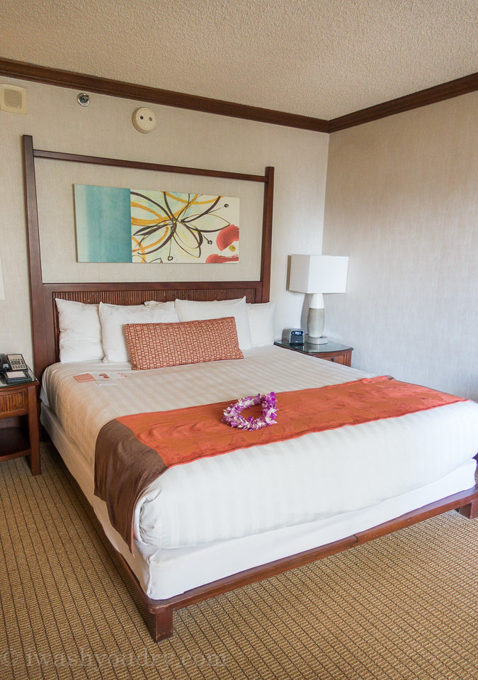 The rooms at the Hyatt Regency Maui were comfy and gorgeous!