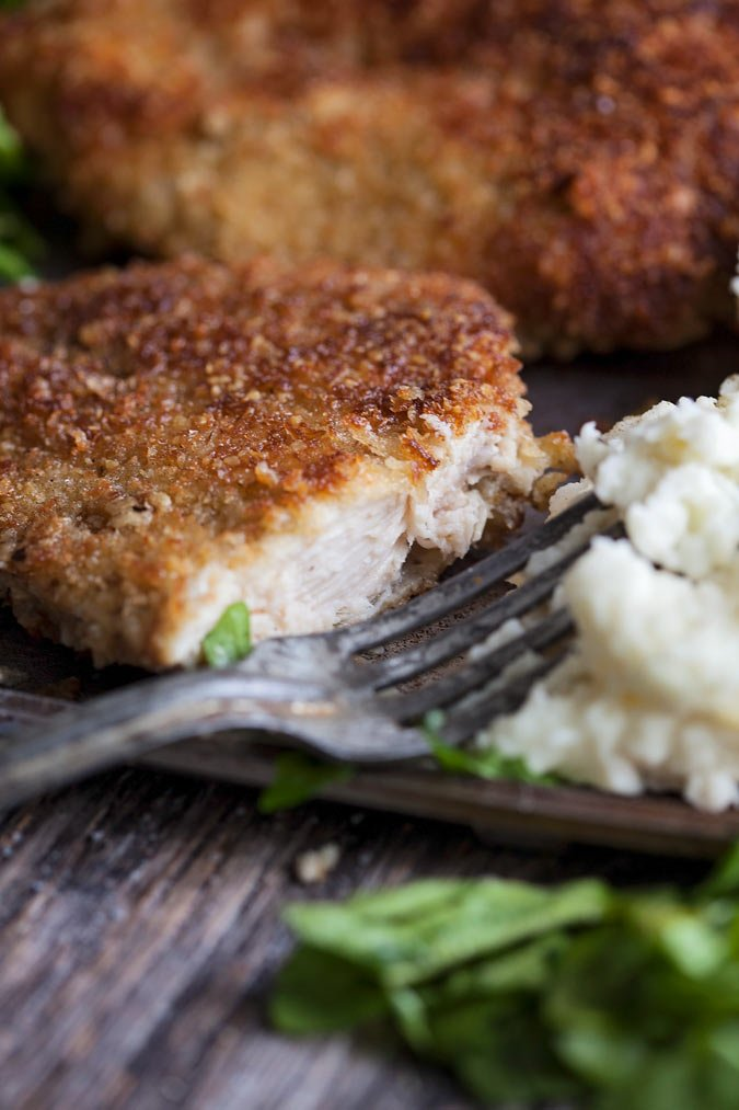 crispy fried parmesan turkey cutlets