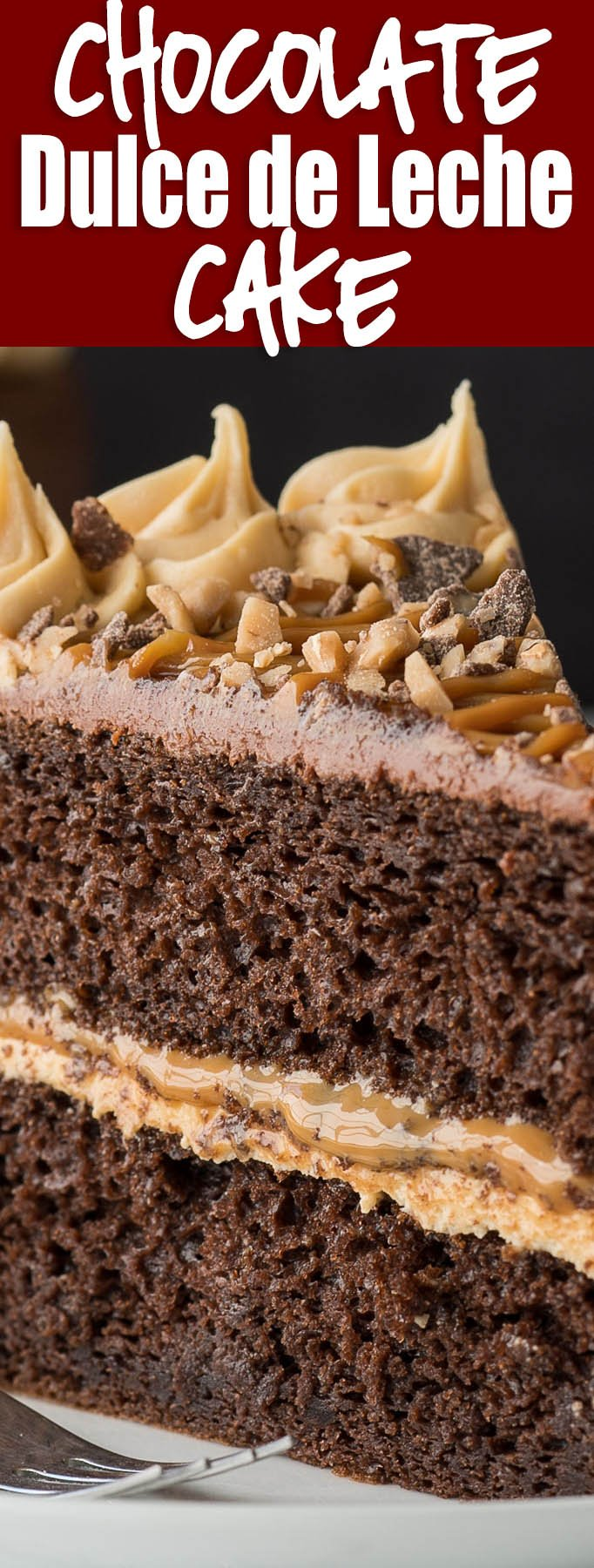 WOW! This Chocolate Dulce de Leche Cake is a stunner! We made this for my mother-in-law's birthday and had RAVE REVIEWS!!