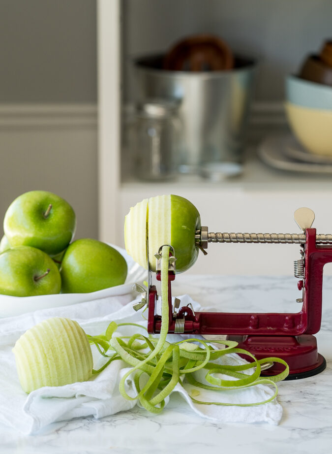 Slice your apples evenly to make the best Apple Pie Filling!