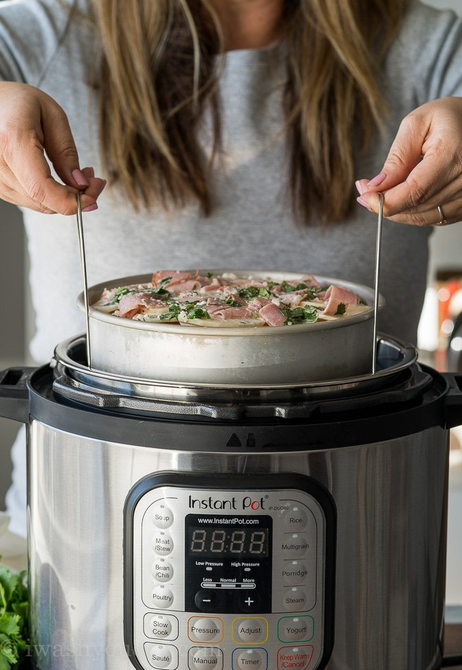 In order to make creamy sauces inside your instant pot, you'll have to utilize the pot-in-pot method, which is super easy to do!