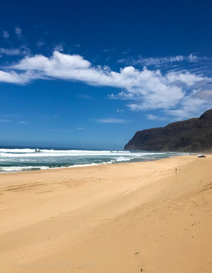 Polihale State Park beach in Kauai Hawaii - a gorgeous secluded beach park all to yourself!
