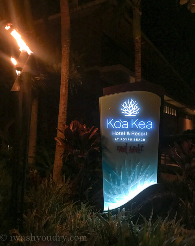 Koa Kea Hotel and Resort in Kauai Hawaii