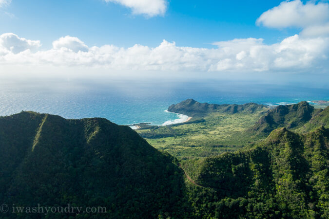 Helicopter flight in Kauai, Hawaii