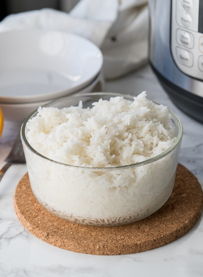 Super fluffy and delicious rice made in the Instant Pot!