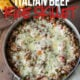 This Italian Beef and Rice Skillet is ready in less than 30 minutes and is a family favorite weeknight dinner!