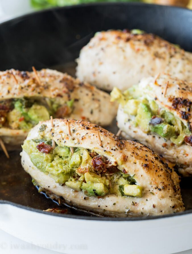 WINNER! My whole family LOVED these Avocado Stuffed Chicken Breasts! Super easy filling and the chicken was moist and delicious! Definitely a new family favorite chicken dinner recipe!