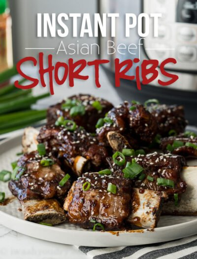 YUM! My whole family LOVED these Instant Pot Asian Beef Short Ribs for dinner! So tender and the sauce was to die for!