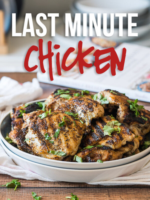 This Last Minute Chicken Recipe is the perfect quick and easy recipe to get dinner or lunch on the table in a hurry!