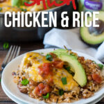 My family went nuts for this Salsa Chicken Rice Skillet! Fresh organic ingredients and a complete meal that was ready in less than 30 minutes!