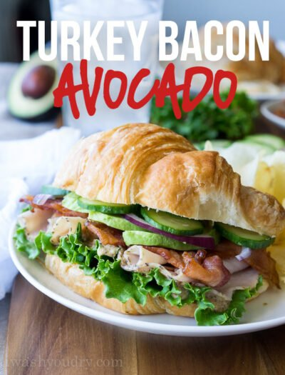 This Turkey Bacon Avocado Sandwich is my new go-to lunch recipe! So quick and easy and it tastes like it came from a famous deli!
