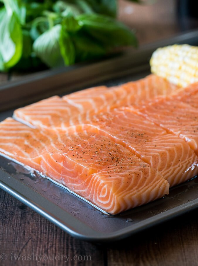Start by brushing your salmon with vegetable oil to prevent any sticking to the grill.