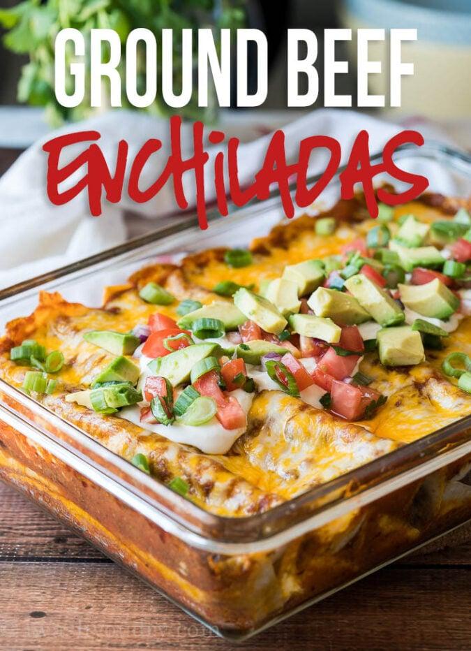 Ground Beef Enchilada Casserole Recipes (Family Casserole Recipes Book 52)