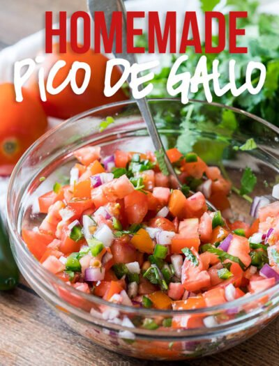 This Super Easy Pico de Gallo Salsa is a super fresh and easy Mexican salsa topping that can brighten up any dish!