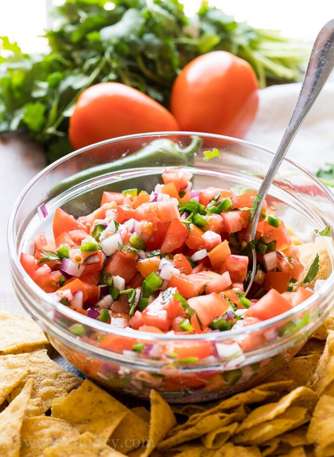 You can completely customize the flavor profile of this homemade Pico de Gallo by changing the type of tomato, onion or pepper you use!