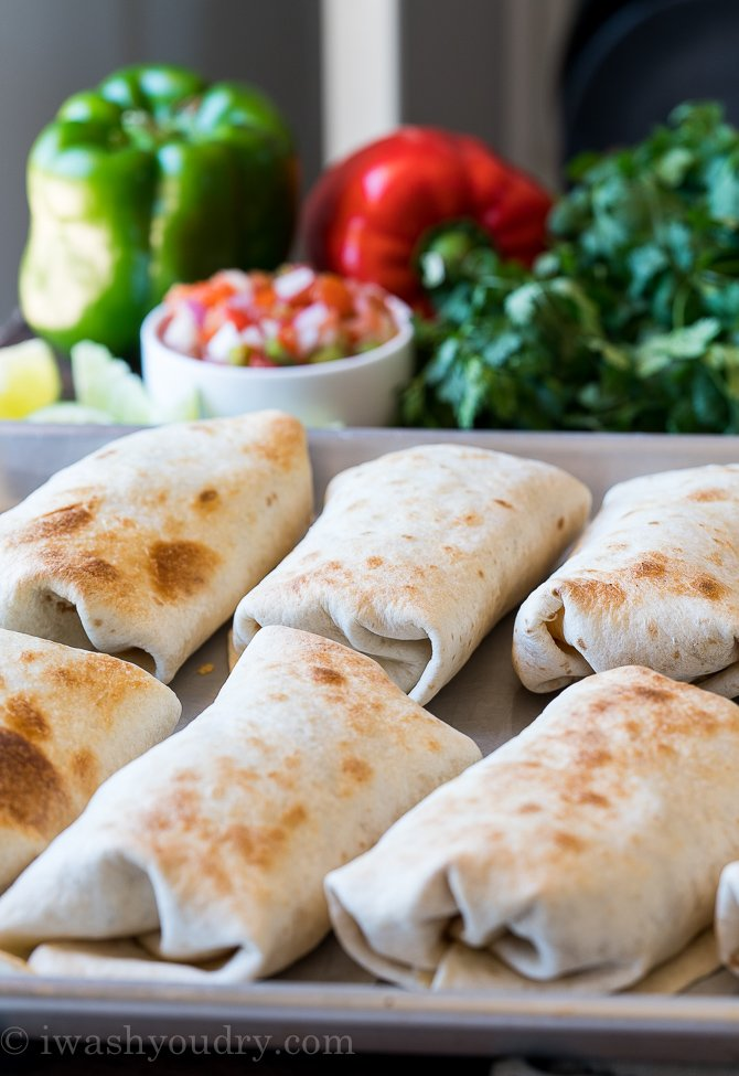 You can make several of these burritos ahead of time, then freeze and reheat when ready to enjoy!