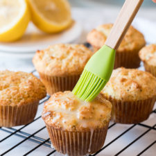 OMG! These Lemon Poppy Seed Muffins are so moist like a bakery, but super easy to make at home!