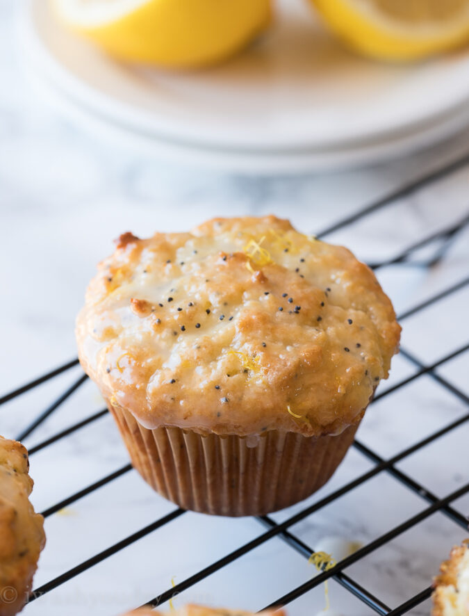 These Lemon Poppy Seed Muffins are my absolute favorite! So moist like a bakery style muffin and so easy to make!