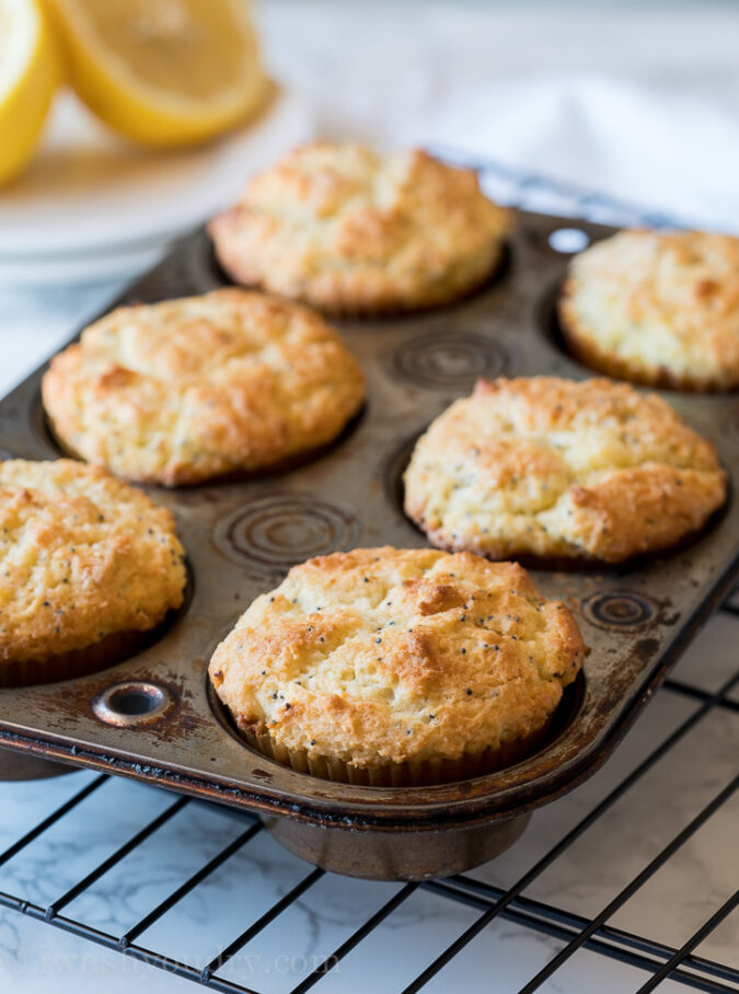 Lemon Poppy Seed Muffins are the perfect moist and delicious breakfast snack for back to school season!