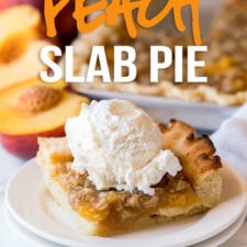 OMG! This Peach Slab Pie is absolutely delicious! It's a like a combination of pie and peach crisp. My family loved it!