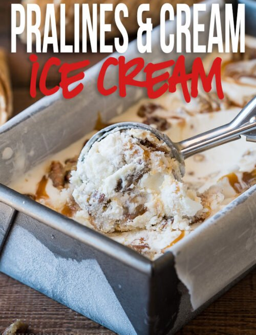 OMG! This Pralines and Cream Ice Cream is so creamy and delicious! Those pecans are to die for!