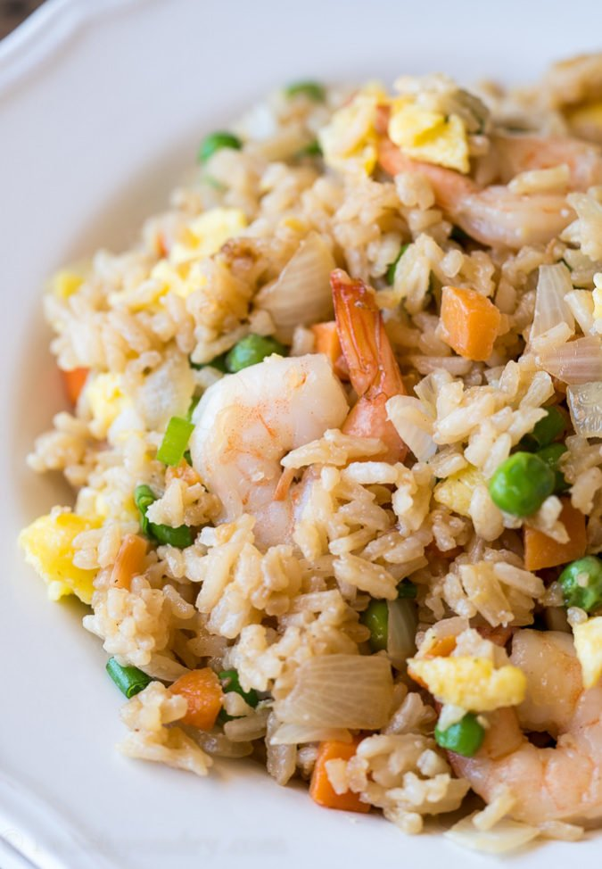 Easy Shrimp Fried Rice I Wash You Dry