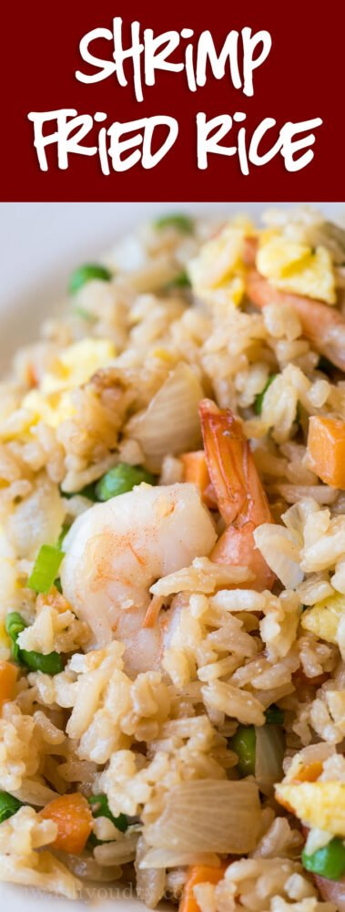 WOW! This super easy Shrimp Fried Rice is way better than takeout and so quick to make at home!