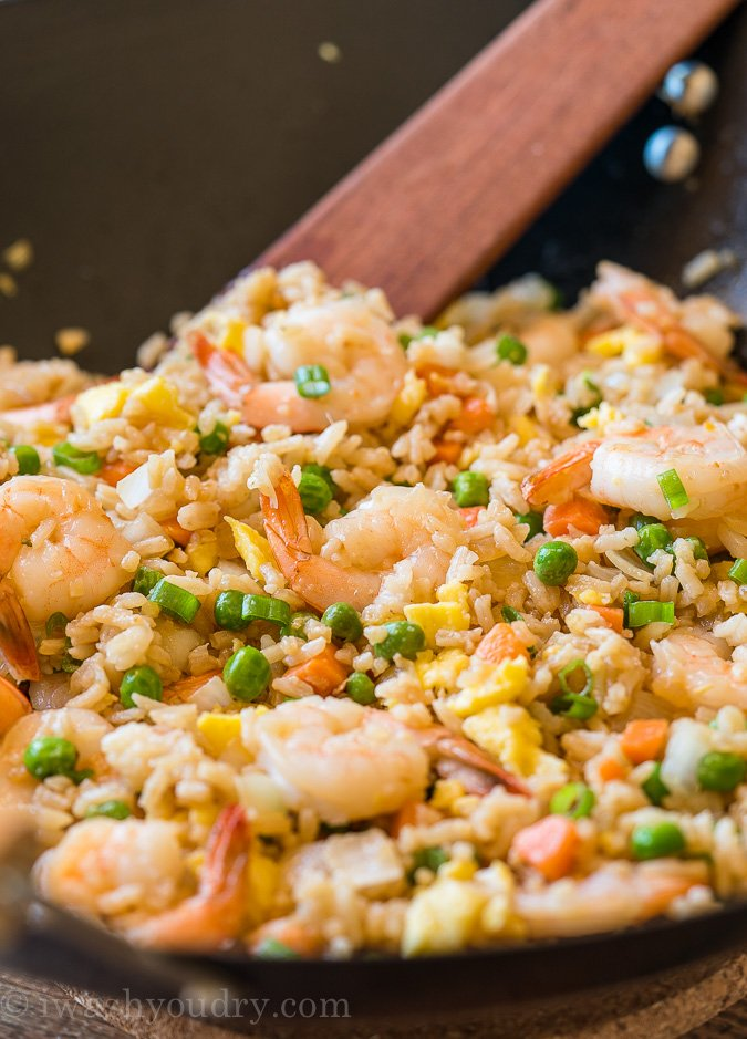 Quick Shrimp Fried Rice Recipe with vegetables