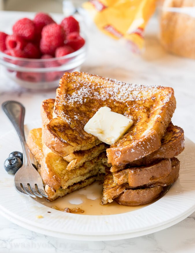 OMG! This extra buttery classic French Toast Recipe is so easy and my kids LOVED them! So did I!